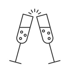 glass of champagne with bubbles vector image vector image