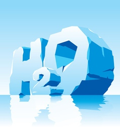 ice water symbol H2O vector image