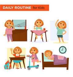 kids on their daily goings vector image vector image