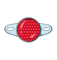 reflector for cyclists icon for better visibility vector image