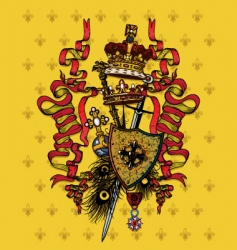 royal composition vector image vector image