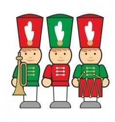 wooden soldiers vector image vector image