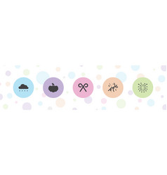 5 season icons vector