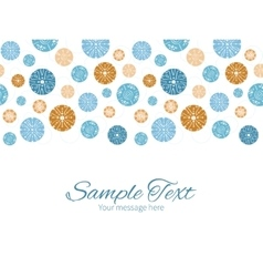 abstract blue brown vintage circles back vector image