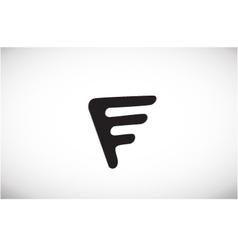 Alphabet letter F black logo icon design vector image