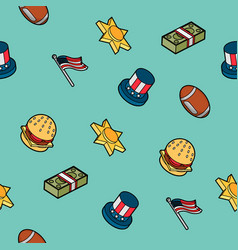 america color outline isometric pattern vector image