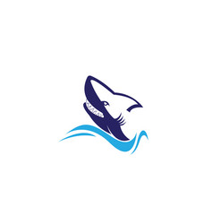 angry shark head open mouth for logo design vector image