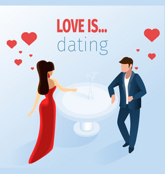 attractive couple dating restaurant vector image