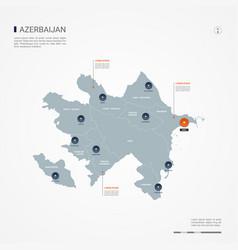 Azerbaijan infographic map vector