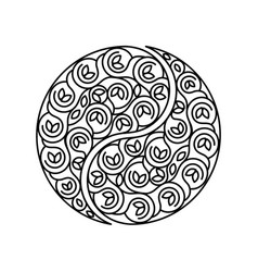 black and white symbol harmony and balance vector image