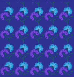 blue flower cornflower isolated on white vector image