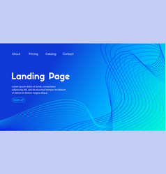 blue landing page template abstract vector image