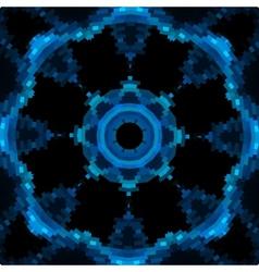 Blue mandala like design in blue color vector image