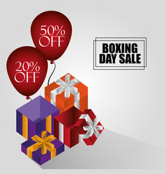 boxing day sale vector image