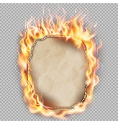Burning sheet paper eps 10 vector
