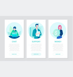 business strategy - set flat design style vector image