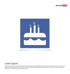 Cake icon - blue photo frame vector