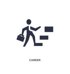 Career icon on white background simple element vector