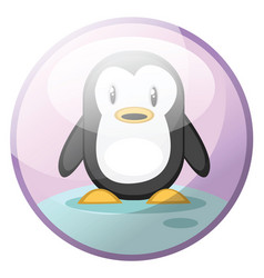 cartoon character of black and white penguin vector image