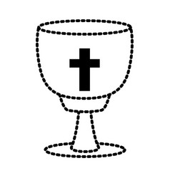 Catholic cross chalice vector