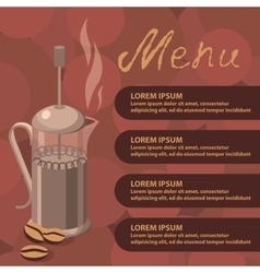 coffee press vector image