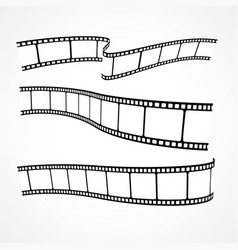 Collection of film strips vector