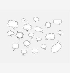 comic speech bubbles in line design on gray vector image