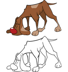Cute hunting dog cartoon vector