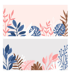 decorative branches and leaves borders vector image