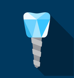 dental implant symbol vector image