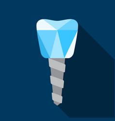 Dental implant symbol vector
