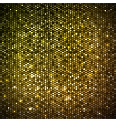 Disco abstract golden neon background vector