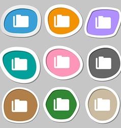 Document folder icon symbols Multicolored paper vector image