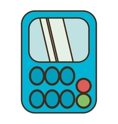 drawing blue calculator class supplie school vector image