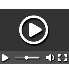 EPS10 little video player with shadows vector image