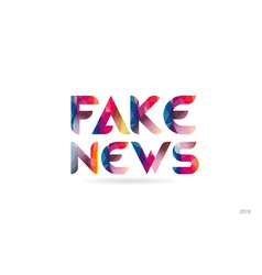 Fake news colored rainbow word text suitable for vector