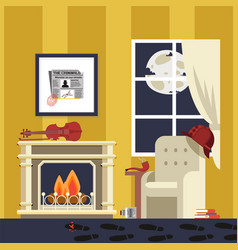 Famous detectives room sherlock result vector