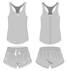 Fashion apparel flat drawings vector
