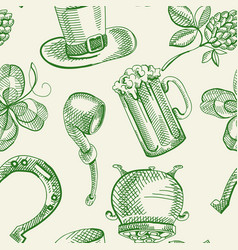 Festive saint patricks day seamless pattern vector