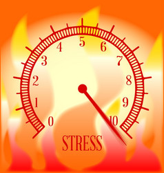 Fire background stress meter vector