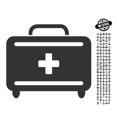 First aid toolkit icon with work bonus vector