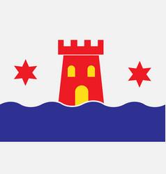Flag of kalmar is a city in kalmar county of vector