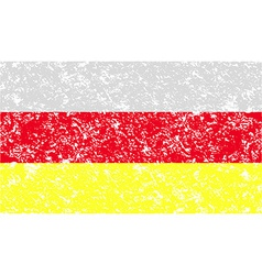 Flag of with old texture vector image