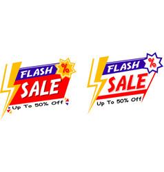 Flash sale logo vector