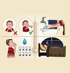 Flu pamphlet vector