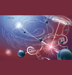 Futuristic nanotechnology background vector