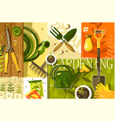 gardening abstract background vector image