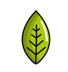 green leaf environment care icon vector image