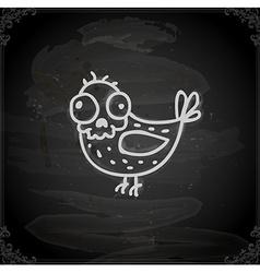 Hand Drawn Skeleton Bird vector image