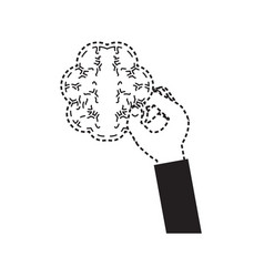 hand with brain icon vector image